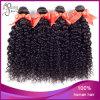 4 pacotes da tecelagem Curly Kinky brasileira do cabelo humano do Virgin