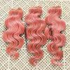 22  Non-Remy 사람의 모발 씨실 바디 파 머리 #Pink