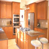 Klassische Küche-Schrank-festes Holz-Küche-Geräten-Küche-Möbel