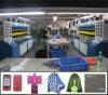 Escritura de la etiqueta de los bolsos de ropa de los guantes de la PU de Rpu Kpu que hace la máquina
