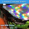 Vinilo olográfico estirable del coche del cromo del laser del arco iris