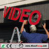 Placa video do sinal do banco da Não-Luminância acrílica do revestimento de vácuo