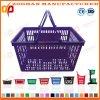 Panier à provisions portatif en plastique de supermarché commercial de qualité (Zhb115)