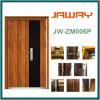 Porte en bois en acier de garantie, ventes chaudes de surface en bois des graines