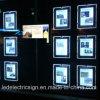 Miroir fixé au mur de cristal de l'affichage LED