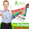 Identificazione promozionale Card Lanyard di Gift Polyester Printing con Metal Clip