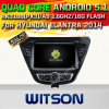 Carro DVD GPS do Android 5.1 de Witson para Hyundai Elantra 2014 com sustentação do Internet DVR da ROM WiFi 3G do chipset 1080P 16g (A5783)