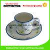 Напечатанные таможней чашка & поддонник чая флористической конструкции