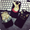 I Phone 6 Rabbit, Dog, Cat, Lion를 위한 유일한 Punk Style Rivet Black Animal Case