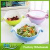 Cesta de dren plástica rotatoria de las frutas y verdura del dispositivo del lavado del arroz