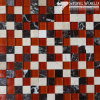 Marmor u. Glass Mosaic Tiles für Flooring/Swimming Pool (mm-017)