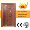 Americana Puerta Puerta de acero, puerta doble con diseños de hardware (SC-S149)