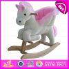 O cavalo de balanço de madeira novo do contrapeso 2015, cavalo de balanço de madeira popular, caçoou o brinquedo de madeira do cavalo de balanço, cavalo de balanço de madeira W16D072