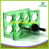 Best Selling Two Tired Shot Glass Beer Bandeau PMMA Plexi Perspex Acrylique Wine Display Case