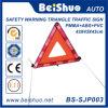 Señal de tráfico amonestadora reflexiva del triángulo del coche de seguridad con PMMA+ABS+PVC