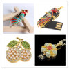 USB Flash Drive Venta al por mayor Cristal USB Memoria Flash Peacock Lotus Flor Perla Flor USB Stick Pendrives USB Flash Disk Memory Stick Flash Card