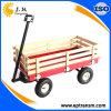 Chariot lourd de chariot de jardin de frontière de sécurité en bois