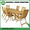 Eichen-Holz-im Freienmöbel ovaler Extendalbe Tisch mit Falz-Stuhl