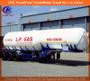 Semi-remolque resistente del tanque del LPG del Tri-Árbol