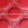 Cuir rouge d'unité centrale de tissu de Microfiber pour la décoration intérieure de voiture