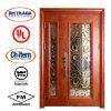Двойная стальная входная дверь обеспеченностью для проекта виллы/двери двери сада стальной стеклянной/двери виллы