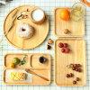 Bandeja de madera el 100% natural por encargo del servicio de Hongdao para el _E del postre del alimento de desayuno