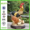 Résine Crafts Handmade Hen et Cock Sculpture (NF86020)
