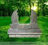 De dubbele Vleugels looien Bruin Monument, Grafsteen (ju-201231)