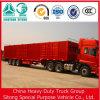 강철 Material 50t 3 Axle Cargo Box Semi Truck와 Trailer