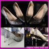 2015 New Arrival Top Quality Brand Fashion Sequins Bridesmaid Shoes Ladies High End Evening Shoes (LB004)