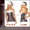 セクシーなスパンコールいたずらサンタベルベット大人のクリスマスドレス(7231)