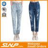 Pantaloni lunghi del Jean delle donne &Ripped Stratch di Strench di modo della via