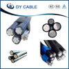 Cable liado aéreo por encima aislado PVC/XLPE del cable del ABC de la alta calidad