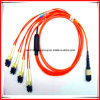 SC/PC Kabel van het Flard van de vezel de Optische, het Optische Koord van het Flard van de Vezel MPO