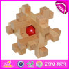 High Quality Wooden Intelligence Lock Puzzle Toy for Kids, Wooden Toy Brain Game for Children, Wooden Luck Toy for Baby W03b020