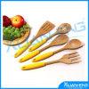 Bamboo Set Utensil 5 Piece Kitchen Cooks Tool