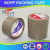 Karton dat de Bruine Tan Plakband van de Kleur OPP verzegelt