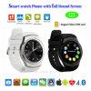 Het ronde Slimme Horloge van Bluetooth van het Scherm met de Groef van de Kaart SIM (G3)