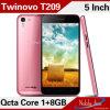 Telefone de pilha de Smartphone do núcleo do gigahertz Octa de Twinovo T209 Mtk6592-1.7
