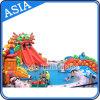 Giant Dragon Slide Aufblasbare Wasserpark mit Schwimmbad