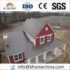 Chalet prefabricado hermoso de la casa prefabricada de la casa de la estructura de acero del color