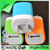 2015whoelesales Colorful Mini Dual USB Wall Charger voor 2.1A