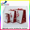 Impresión de alta calidad de la bolsa de papel con cinta de seda