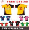 De Overhemden van het Rugby van het Ontwerp van de Douane van de Sublimatie van de Mensen van Healong volledig