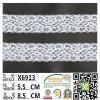 뜨개질을 한 자카드 직물 탄력 있는 뻗기 디자인 나일론 탄력 있는 레이스