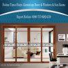 Los 4 paneles de puerta deslizante de aluminio/de aluminio con los vidrios dobles
