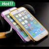 iPhoneのための二重Colors Aluminum Metal Sliding Bumper Slider Frame Case 4 5 6 Plus