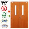 Porte en bois d'épreuve d'incendie avec normal de la Grande-Bretagne BS certifié/porte coupe-feu avec la glace