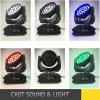 36*18W RGBWA UV 6in1 이동하는 맨 위 세척 LED 단계 점화