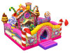 Patio inflable del caramelo, casa dulce Funcity inflable animoso